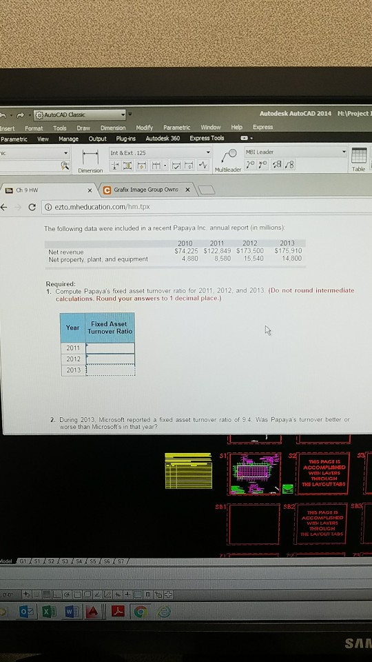 Solved: AutoCAD Classic Autodesk AutoCAD 2014 M: Project I