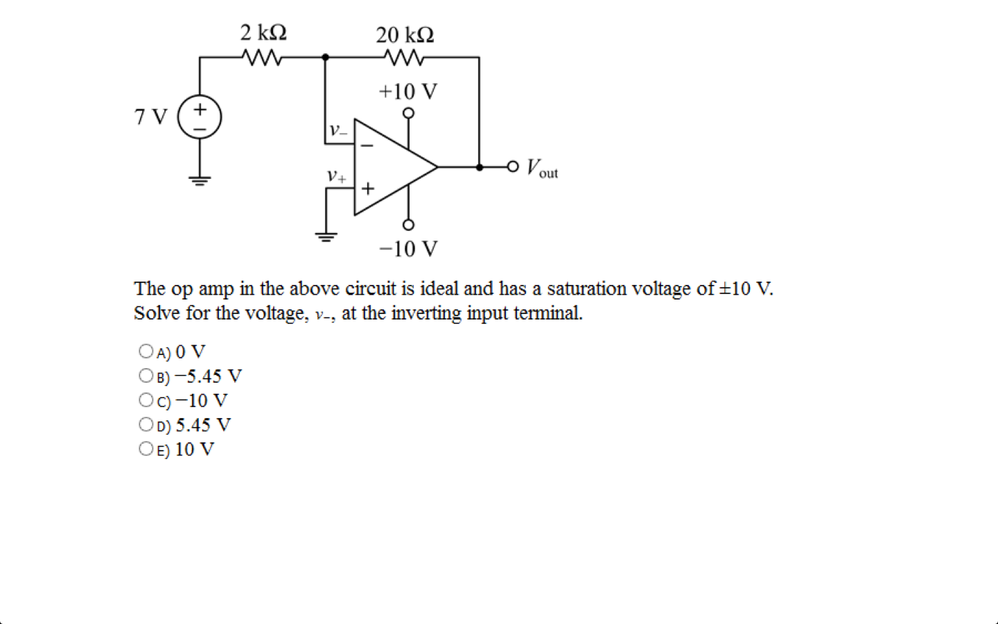 Solved Determine The Power Supplied By Op Amp In Circuit Question Above Assume That Is Ideal