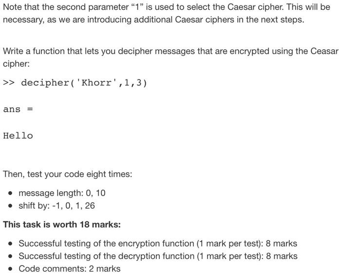Solved: TASK 1: Caesar Cipher Http://en wikipedia org/wiki
