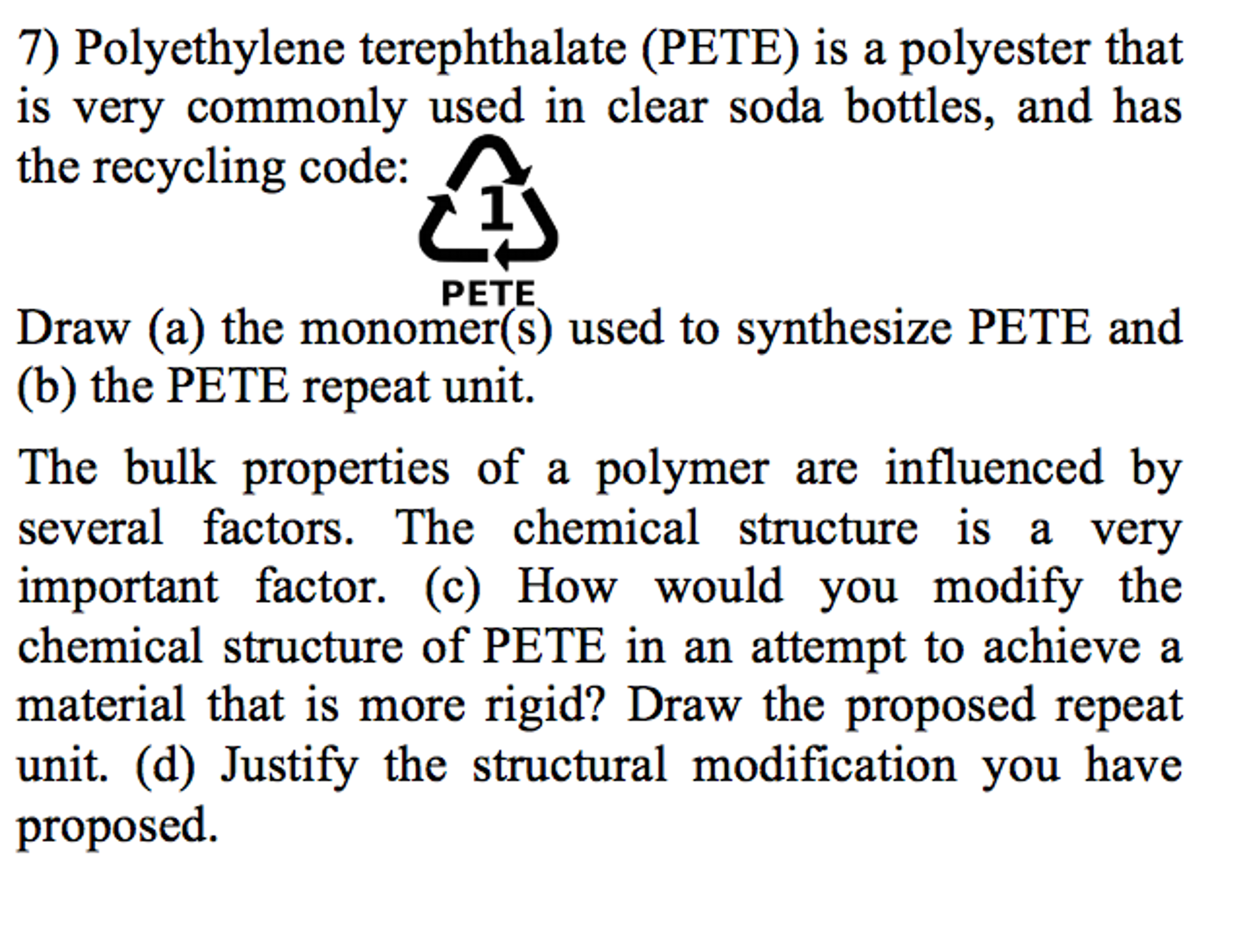 Coffee cup calorimeter problems - Polyethylene Terephthalate Pete Is A Polyester T