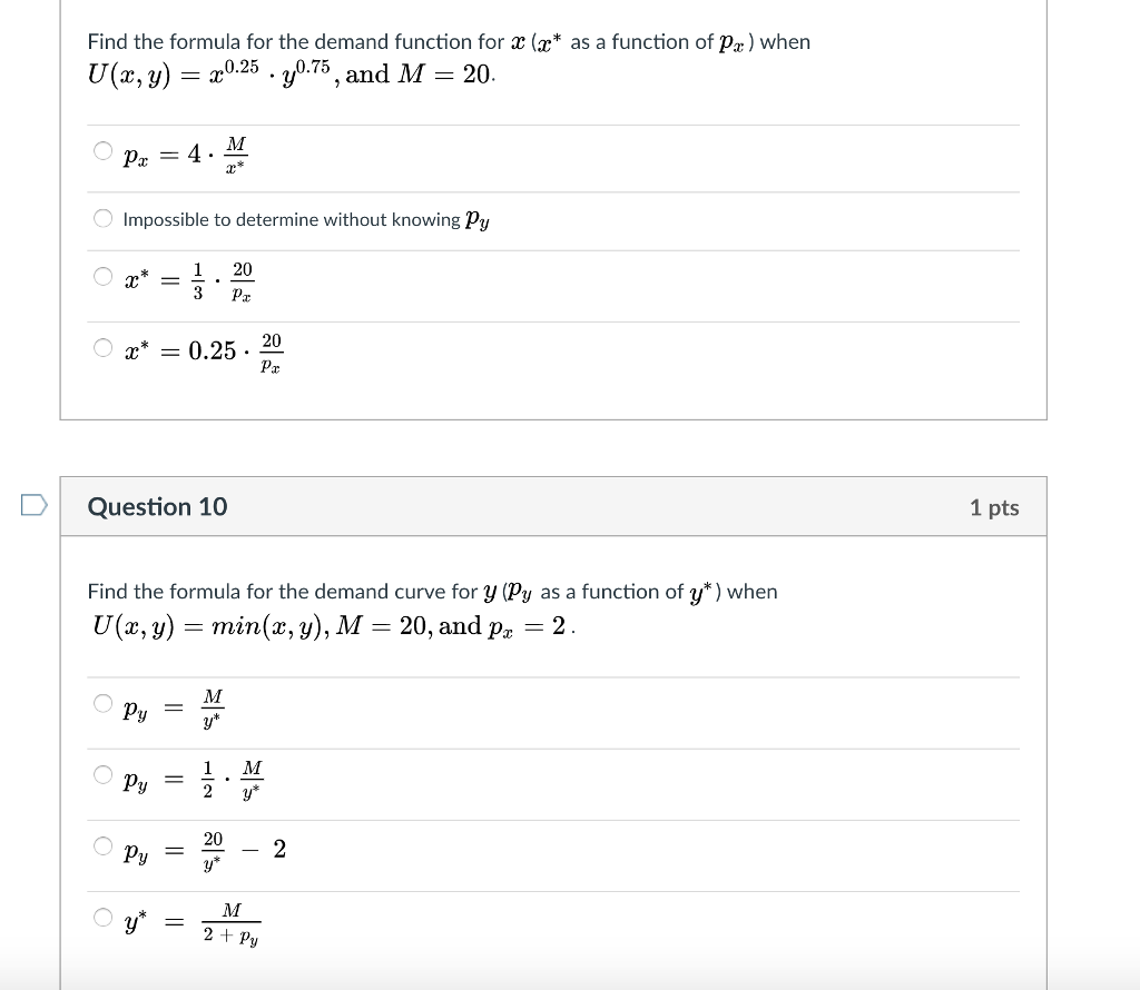 Solved Find The Formula For The Demand Function For X A Chegg Com Midpoint calculator, formula, example calculation (work with steps), real world applications and practice problems to learn how to find midpoint of a line segment in geometry. formula for the demand function
