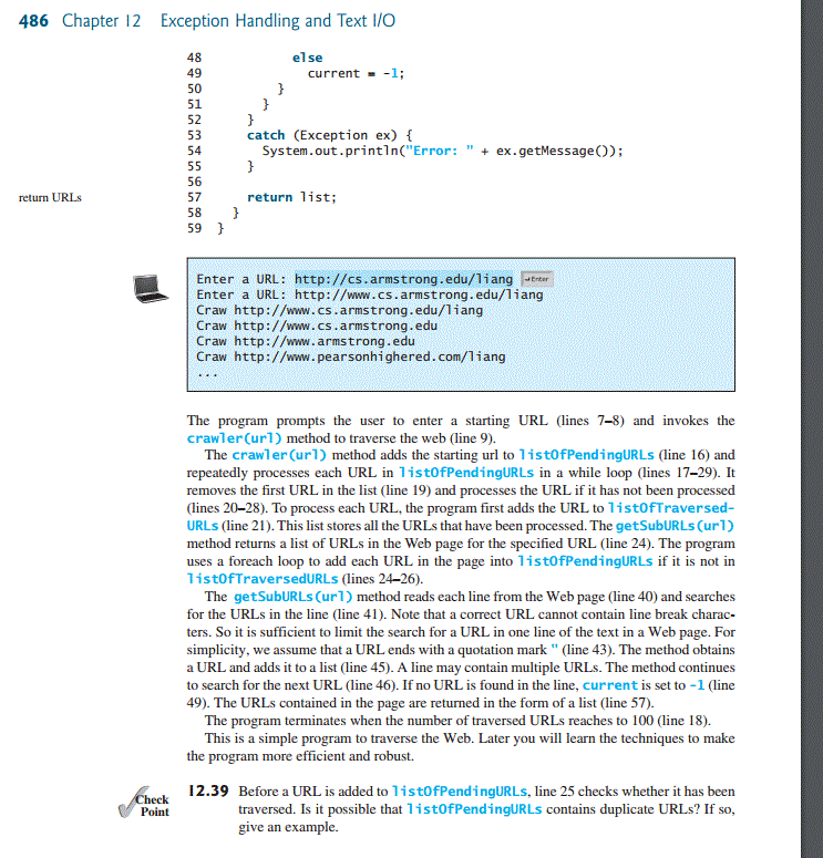 Solved: The Author Uses The Case Study 12 13: Web Crawler