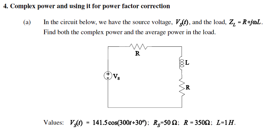 Solved 4 1 4 Complex Power And Using It For Power Factor