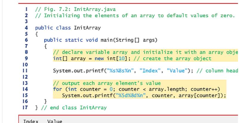 java instantiate array