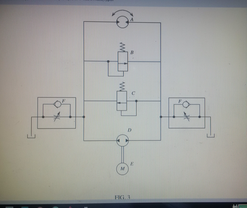 Solved Modify The Design Of Circuit Shown In Figure 3 Diions Wiring Diagram And Draw A To Provide Rotary Actuation Both Directions Using Single Direction Pump