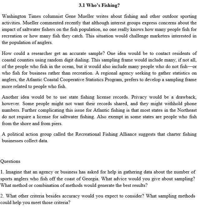 Solved: 3 1 Who's Fishing? Washington Times Columnist Gene