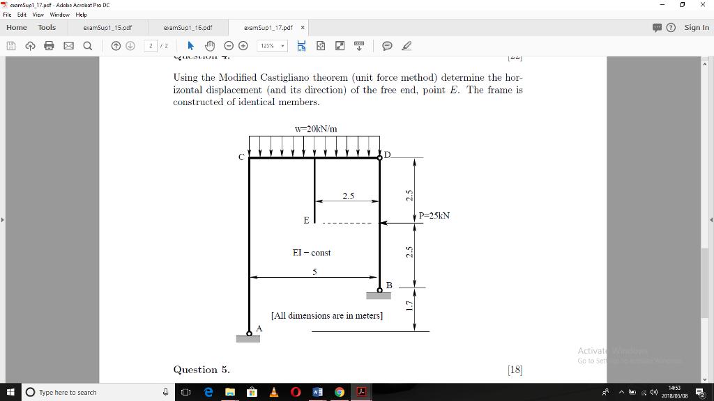 Solved: ?' EsamSup1 17 pdf Adobe Acrobat Pro DC File Edit