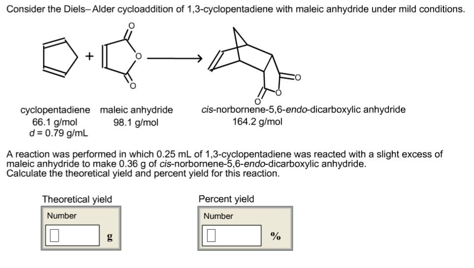 diels alder reaction synthesis of cis norbornene 5 6 endo dicaroboxylic anhydride Cis-norbornene-5-6-endo-dicarboxylic anhydride previous image lightbox.