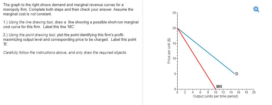 Solved the graph to the right shows demand and marginal r question the graph to the right shows demand and marginal revenue curves for a monopoly firm complete bot ccuart Image collections