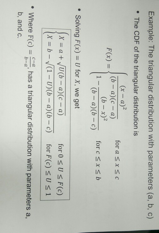 solved example the triangular distribution with paramete