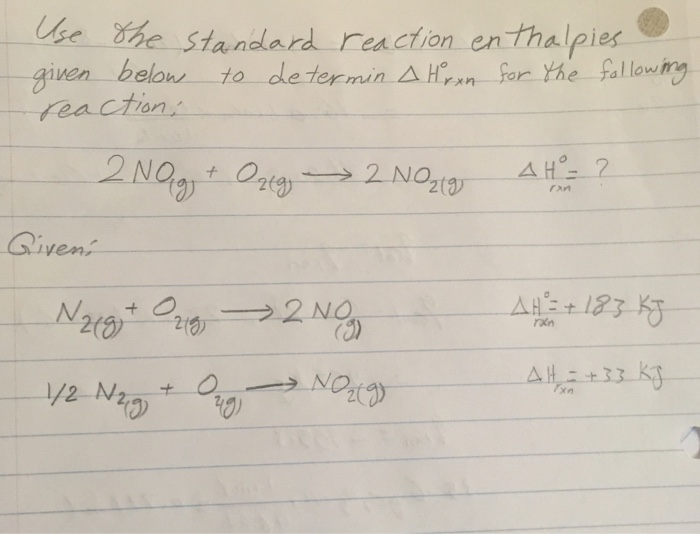 Use the bond energies provided to estimate ΔH°rxn for the reaction...