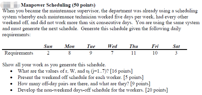 Every Other Weekend Work Schedule