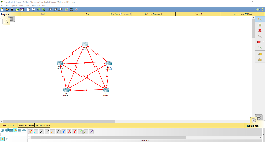 packet tracer network topology