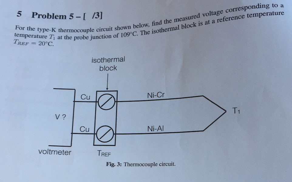 k type thermocouple circuit diagram solved for the type k thermocouple circuit shown below  f  type k thermocouple circuit shown below