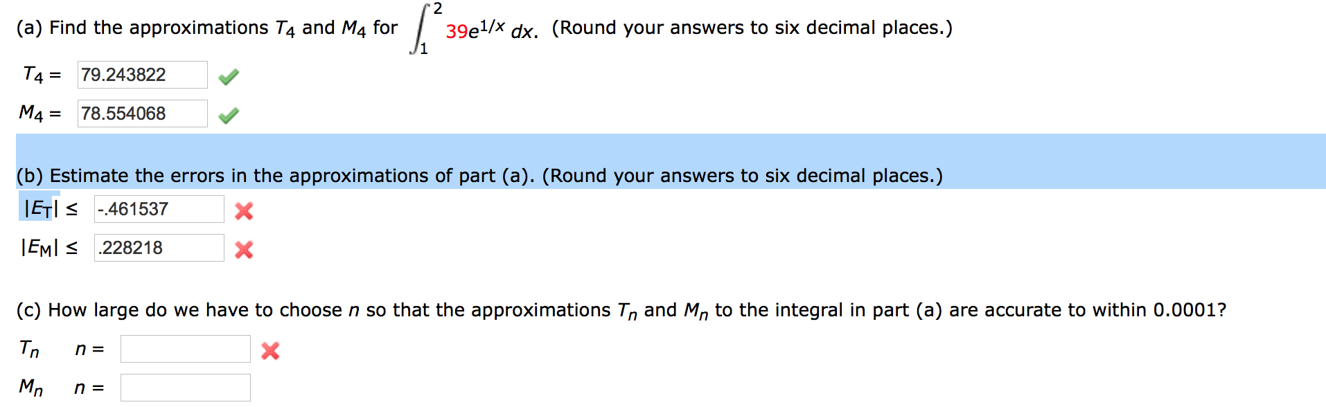 Image For (a) Find The Approximations T4 And M4 For Integral 1 To 2