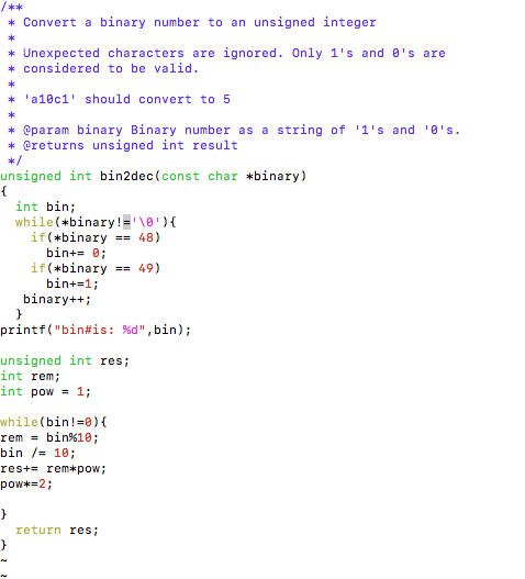 Solved: Write A Program In C That Converts A Binary String