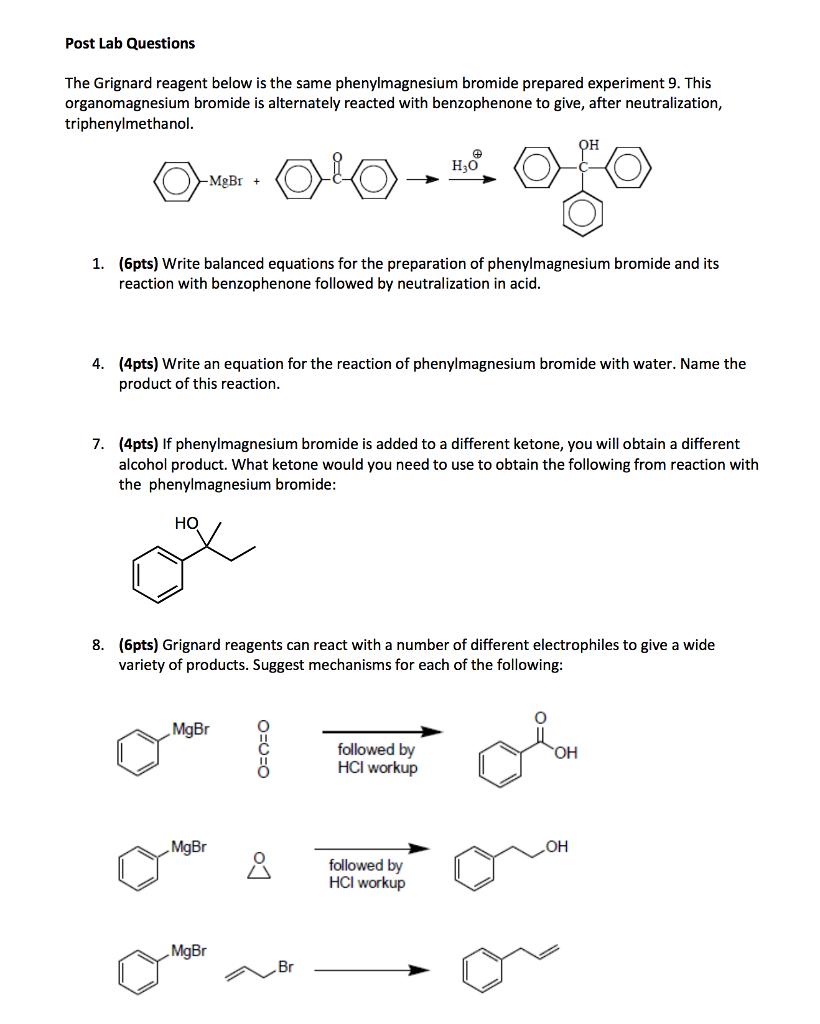 synthesis of triphenylmethanol mechanism