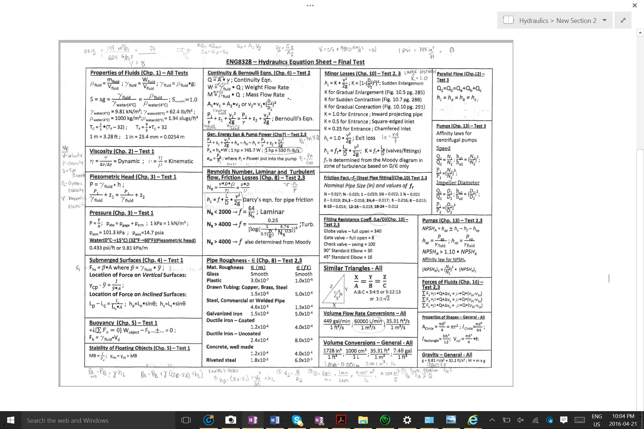 how to get hydraulic power formula