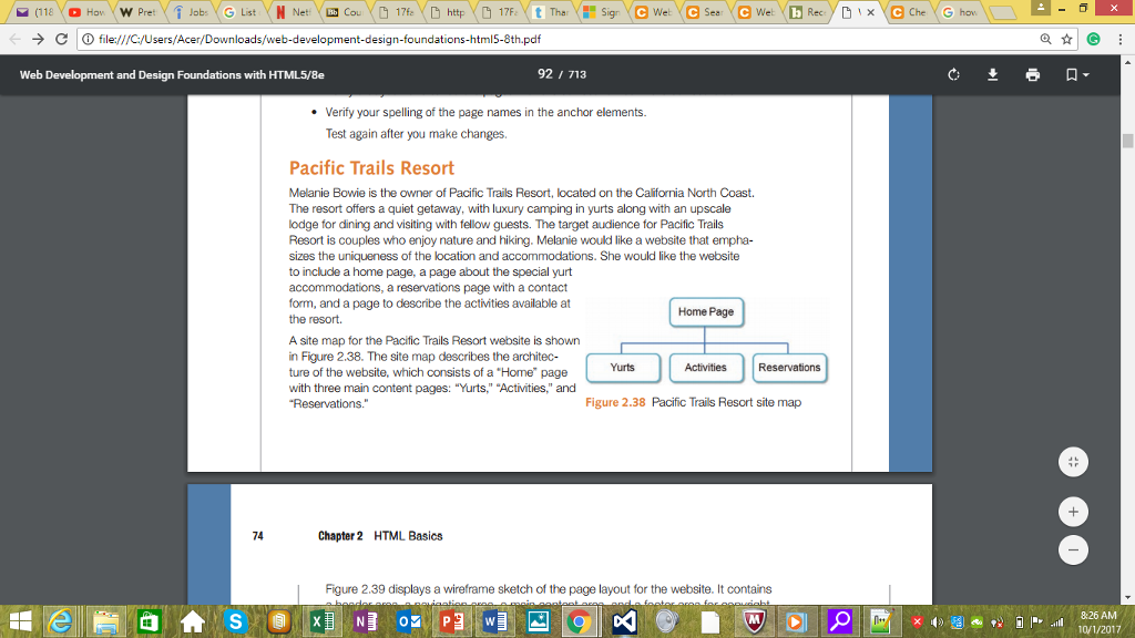 Solved Making A Web Page For Pacific Trails Resort Pleas Chegg Com