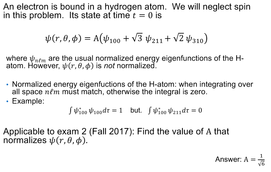 Solved: An Electron Is Bound In A Hydrogen Atom  We Will N