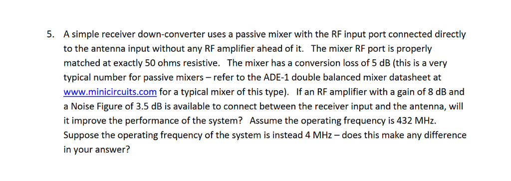5  A Simple Receiver Down-converter Uses A Passive