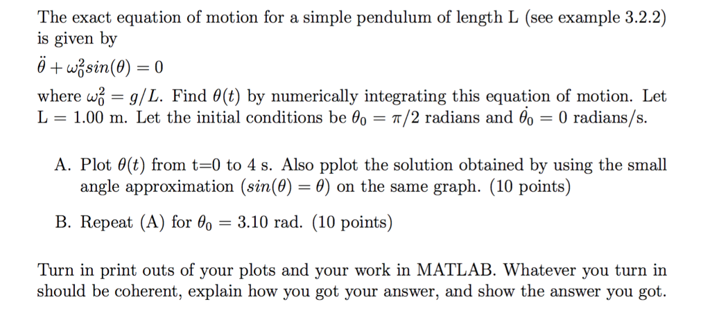 Exact equation example