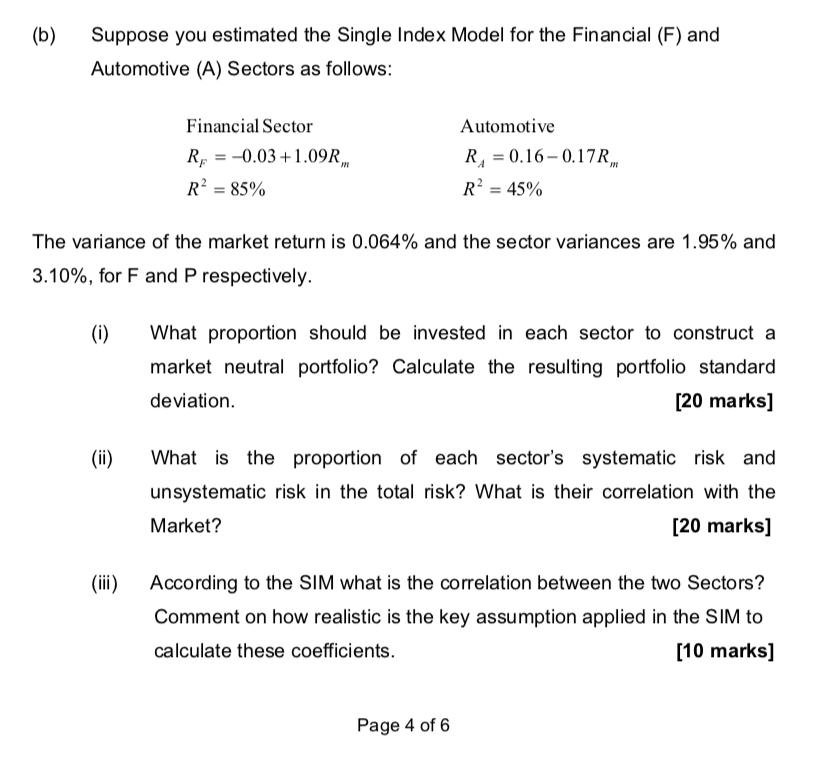 Single index model investopedia