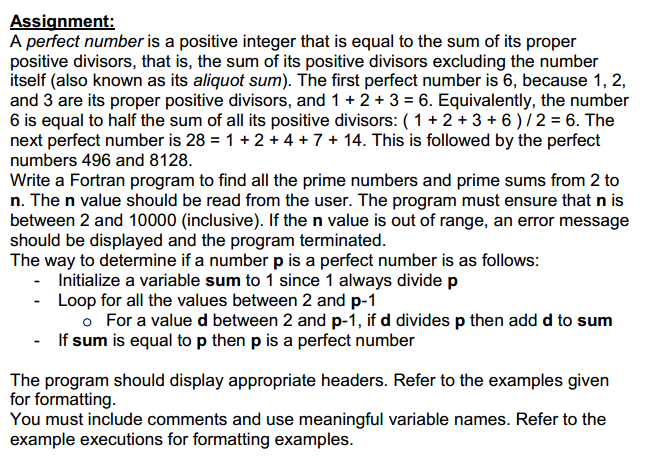 A Perfect Number Is A Positive Integer That Is Equ... | Chegg.com
