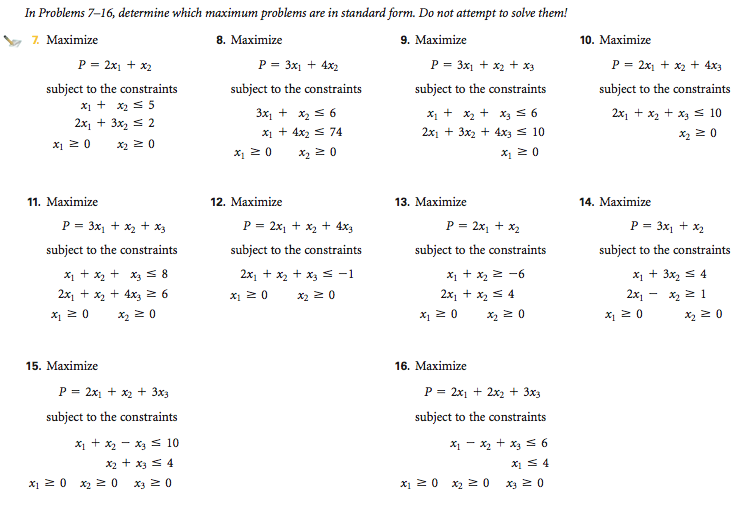 standard form problems  Solved: Please Show At Least One Why Is It In Standard Form ...