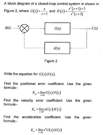solved: a block diagram of a closed-loop control system in ... oldsmobile fuse block diagram
