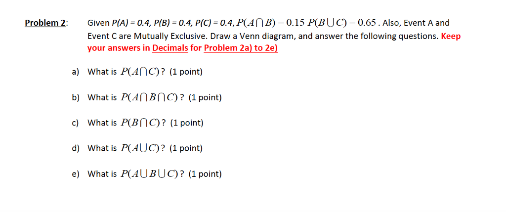 Solved Given Pa 04 Pb 04 Pc 04 Also