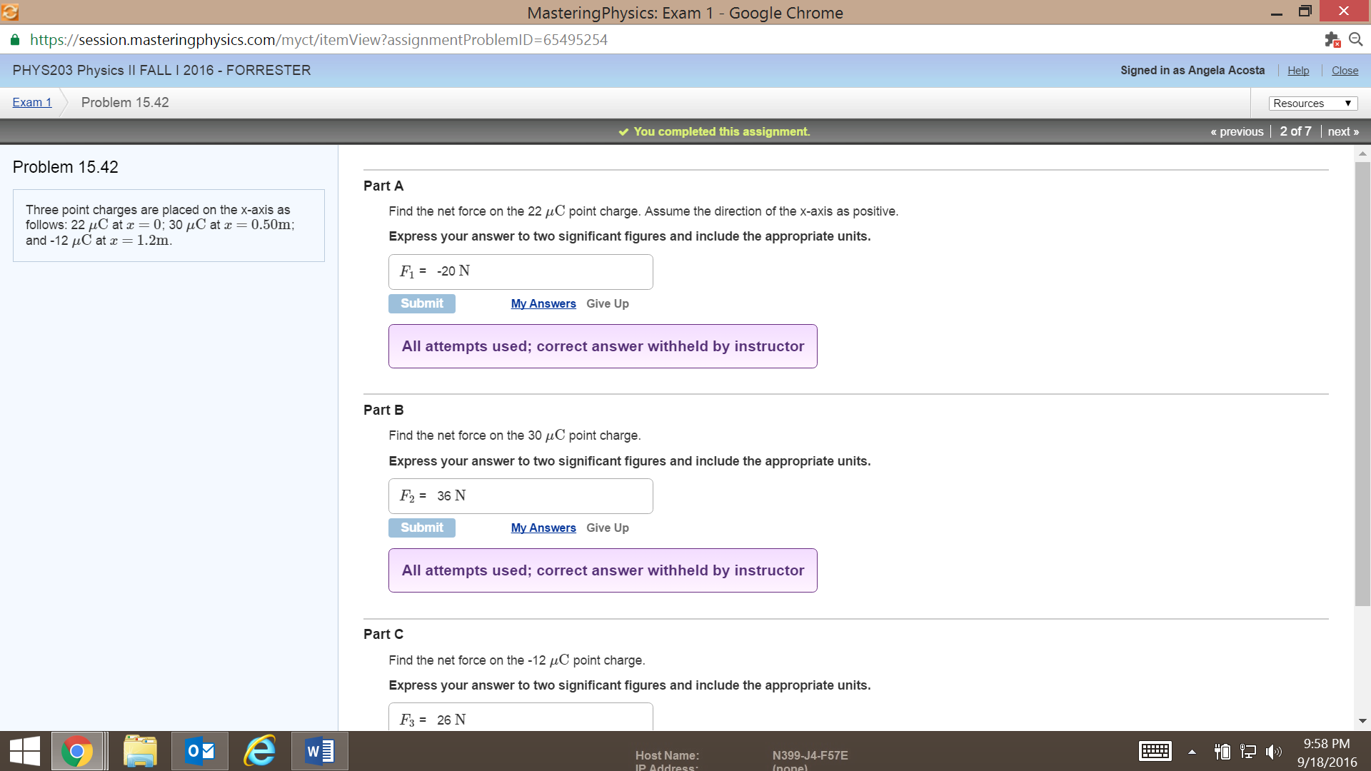 solved mastering physics exam 1 google chrome https s rh chegg com Mastering Physics Numerical Answers Masters Degree in Physics