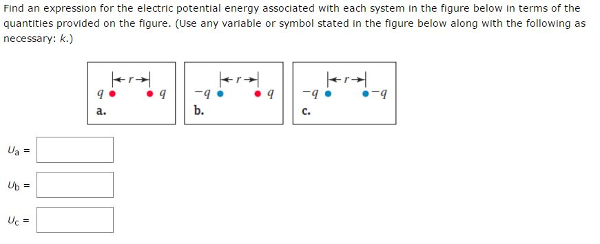 Solved Find An Expression For The Electric Potential Ener