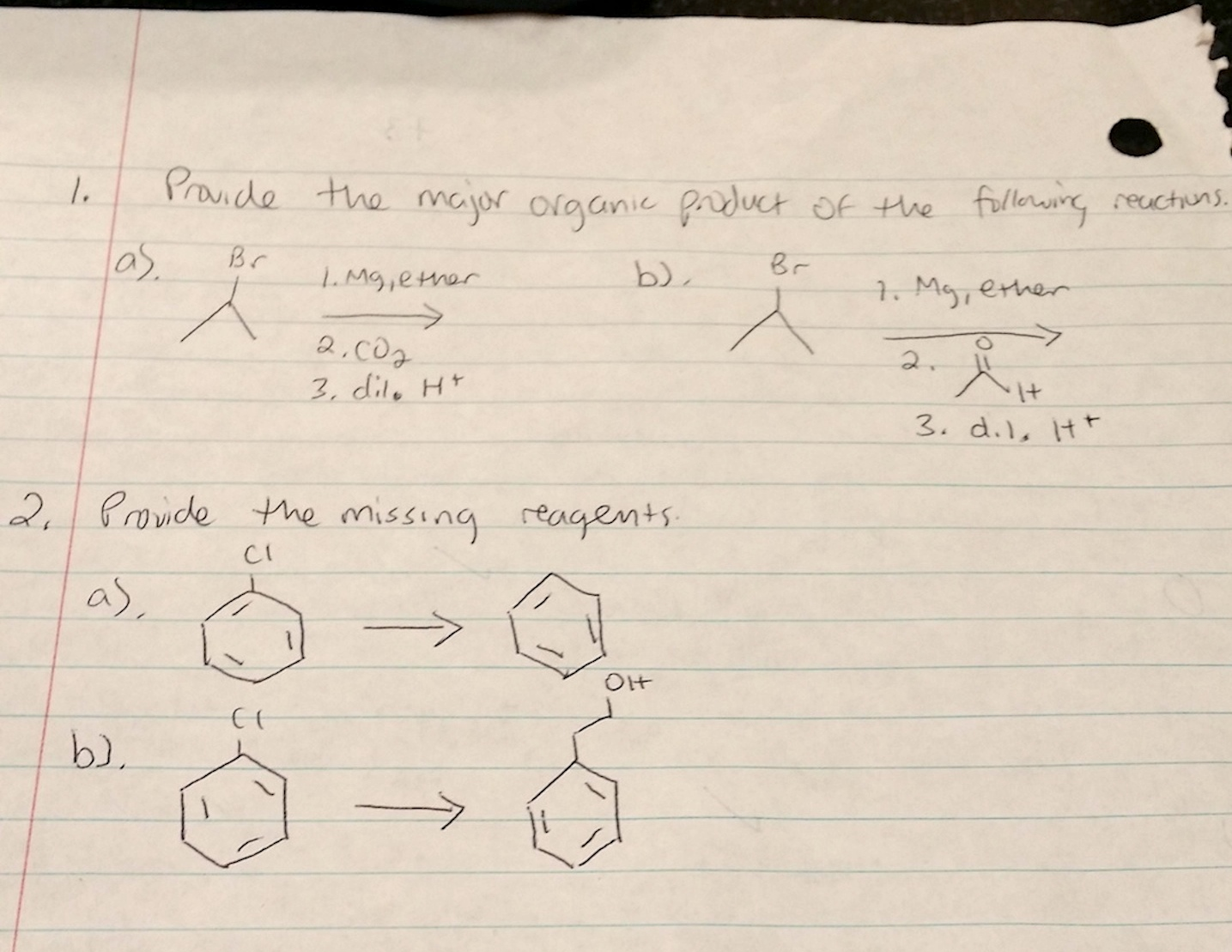 Solved: Provide The Major Organic Product Of The Following