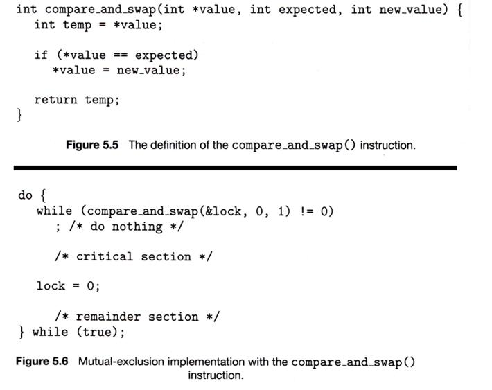 Question: 1.In Your Own Words, Explain How The Compare And Swap Instruction  Can Prevent More Than One Proce.