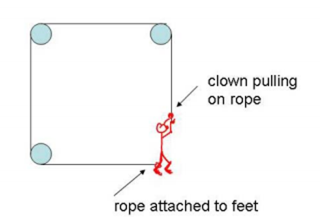 solved 8 pts in the diagram below a circus clown has a rh chegg com