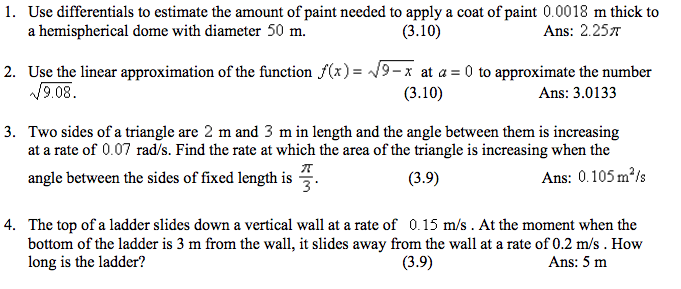 Solved: Use Differentials To Estimate The Amount Of Paint