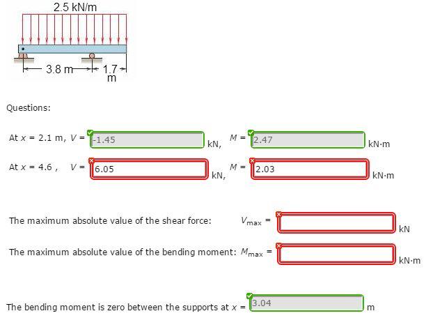 Solved chapter 5 problem 5137 draw the shear and moment 25 knm 38 m17 questions at x 21 m ccuart Images