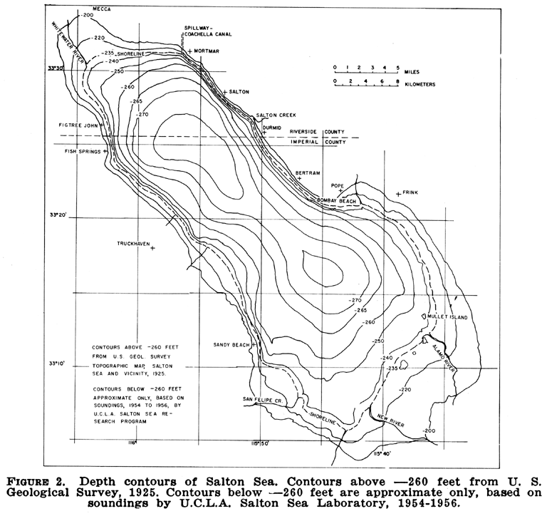 This Is A Topographic Map Of The Salton Sea  I Nee