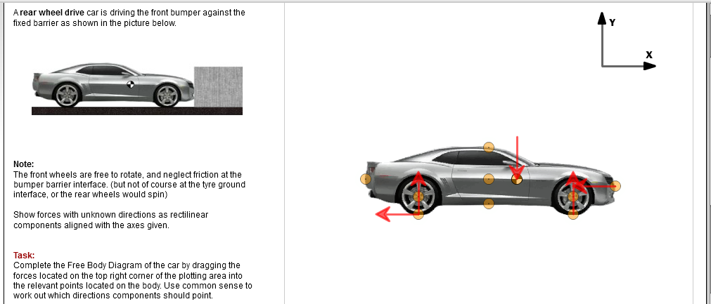 A Rear Wheel Drive Car Is Driving The Front Bumper...   Chegg.com