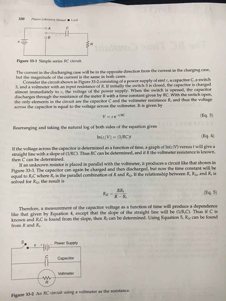 Solved: 330 Physics Laboratory Manual Layd Figure 33-1 Sim