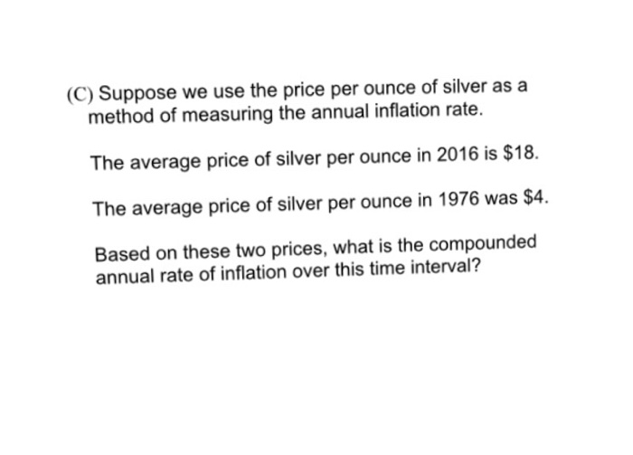 Suppose we use the price per ounce of silver as a