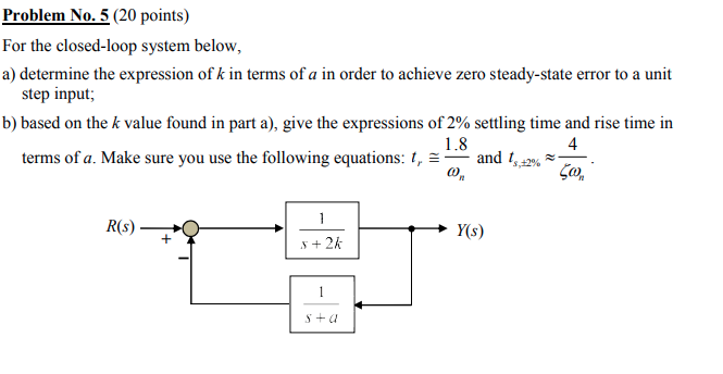 Electrical engineering archive march 25 2018 chegg 1 answer problem no5 20 points for the closed loop system below fandeluxe Image collections