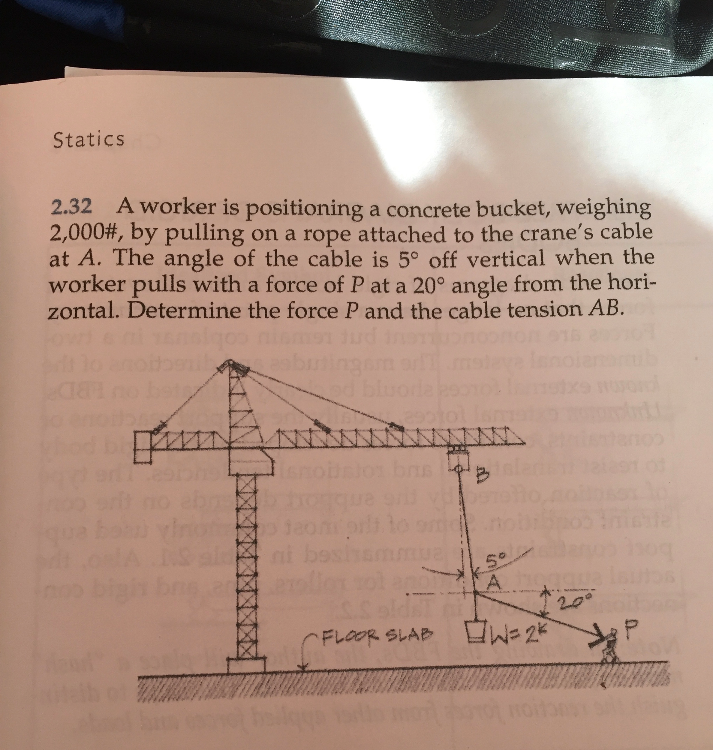 Solved Draw A Free Body Diagram Of The Following Objects Drawing Diagrams Crane