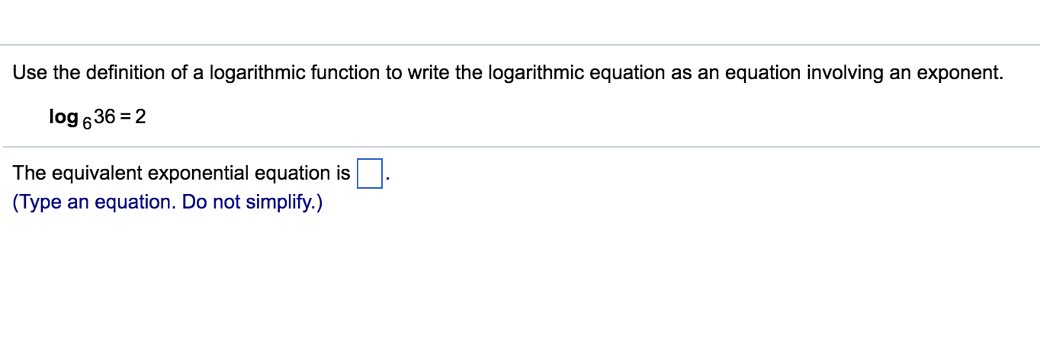 solved: use the definition of a logarithmic function to wr