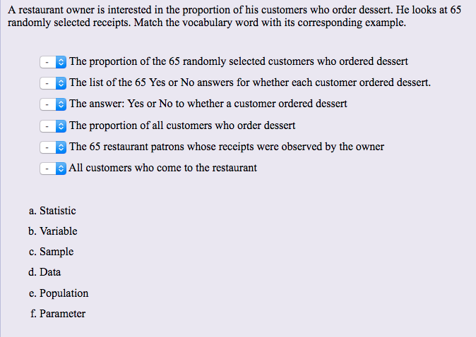 Solved: A Restaurant Owner Is Interested In The Proportion ...