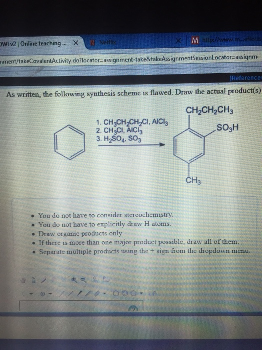 Solved: As Written, The Following Synthesis Scheme Is Flaw ...
