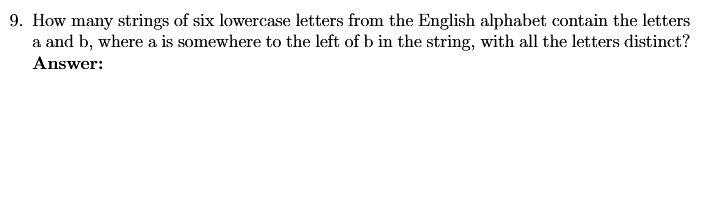 Solved: 9. How Many Strings Of Six Lowercase Letters From ...