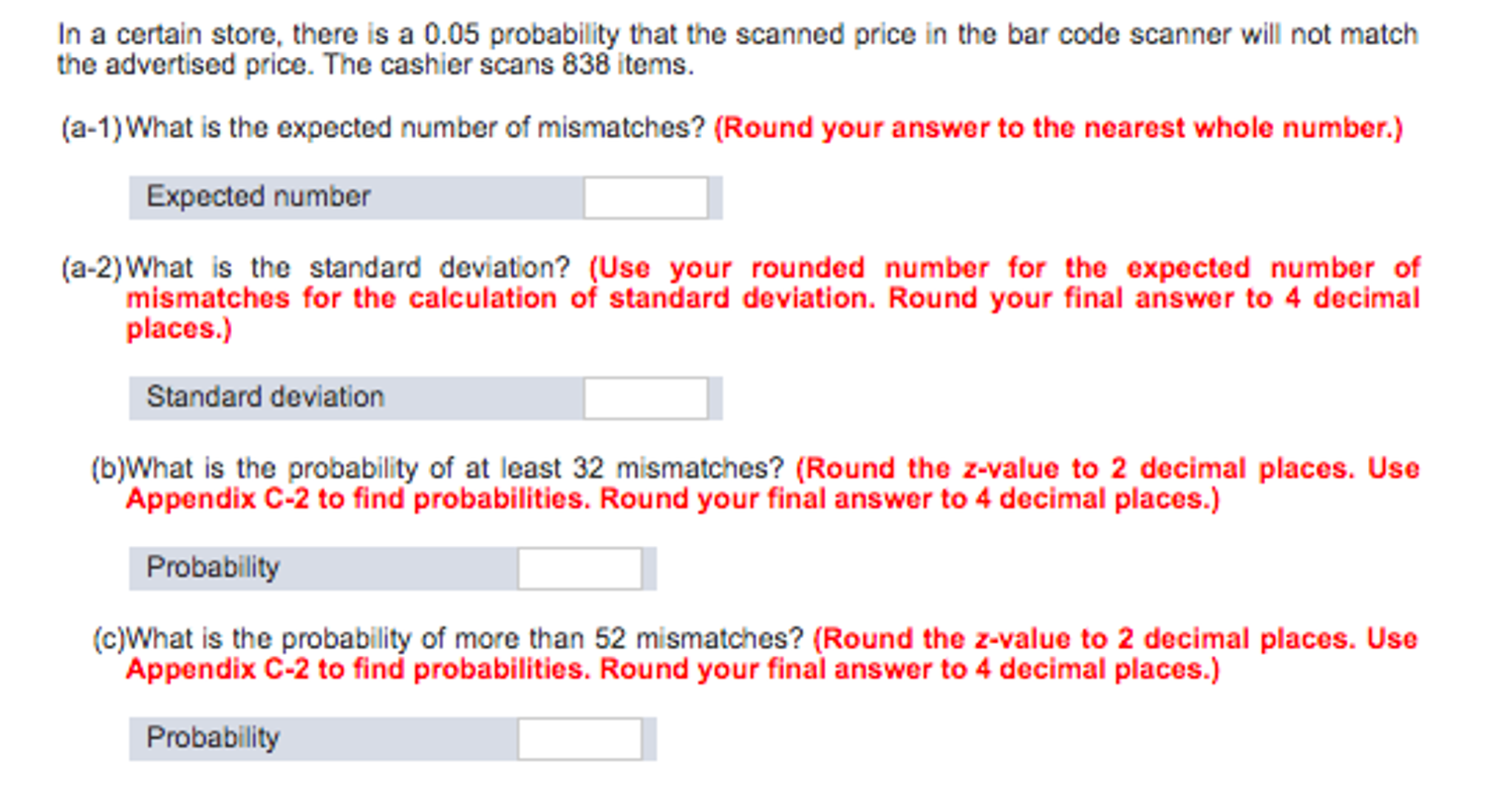 Solved: In A Certain Store, There Is A 0 05 Probability Th