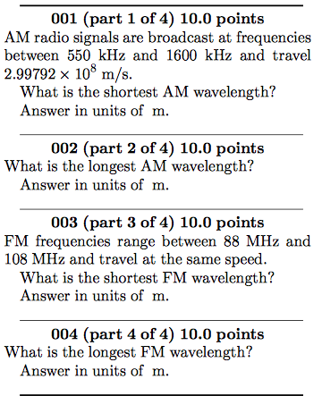 Image For 001 Part 1 Of 4 100 Points AM Radio Signals Are Broadcast